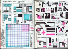 the semi-finished sketchbook by Tony Ziebetzki, via Behance Sketchbook Layout, Sketchbook Pages, Sketchbook Inspiration, Sketchbook Ideas, Graphic Design Layouts, Layout Design, Curriculum Design, Digital Painting Tutorials, Photography Reflector
