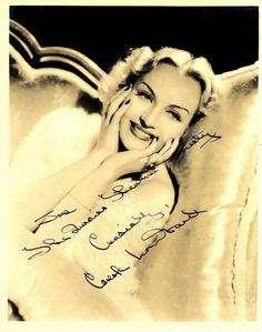 Carole Lombard rare signed and personalized photo