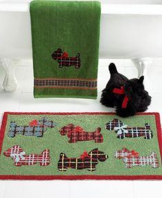 "Martha Stewart Collection Scottie Dog Hand Towel, 16"" X 28"" Green by Martha  Stewart, http://www.amazon.com/dp/B002ODJDHC/ref=cm_sw_r_pi_dp_lAdLqb169424B"