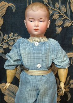 """14"""" Extremely Rare 163 Pouting Character Boy Possibly By Hertel & from kathylibratysantiques on Ruby Lane"""