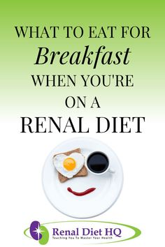 Are you on dialysis due to chronic kidney disease? Knowing what food is best for your renal diet can be challenging. But here's a list of 5 renal diet breakfast recipes and options. Renal Diet Menu, Dukan Diet, Dialysis Diet, Food For Kidney Health, Diet Breakfast, Breakfast Recipes, Breakfast Options, Kidney Recipes, Diet Recipes