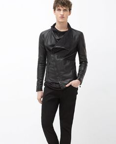 ZARA - MAN - LEATHER JACKET