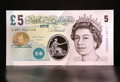 English 5 and 10 pound notes are now made of polymer. The new polymer bills last longer than paper money. by debmund