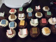 Book cupcakes!  Love it!