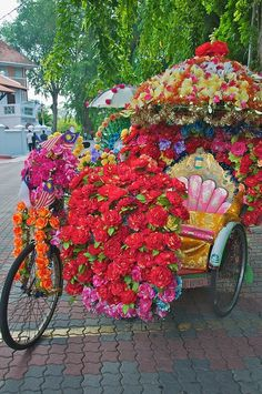 WOW! Now that's colourful transport
