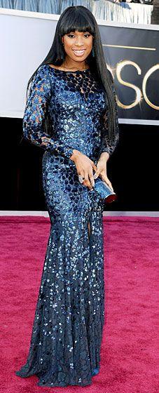 Jennifer Hudson in Roberto Cavalli - Academy Awards 2013