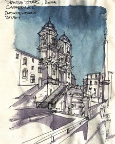 """""""Watercolor  - Shading Study, Spanish Steps, Rome, Italy !!! ⠀ ⠀⠀ ⠀⠀⠀⠀ ⠀⠀⠀⠀ ⠀ ⠀⠀⠀ ⠀⠀⠀⠀ ⠀⠀⠀⠀ ⠀⠀⠀ ⠀⠀⠀⠀ ⠀⠀⠀⠀ ⠀⠀⠀⠀ ⠀ ⠀⠀⠀ #WASIdesignstudio #Sketch…"""" Rome Spanish Steps, Study Spanish, Cubism, Rome Italy, Caleb, Barcelona Cathedral, Art Quotes, Watercolour, Chicago"""