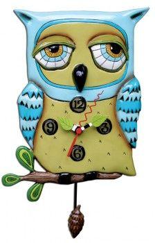 Old Blue Owl Clock $55