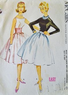A 1959 McCall's sewing pattern illustration.
