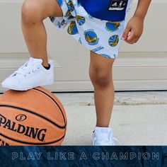 These Golden State Warriors basketball shorts will look fantastic on game day. Let your little Warriors sport these lounging shorts. basketball training, aau basketball, basketball things, basketball stuff, basketball life, love basketball, team basketball, sports basketball, kids clothing, toddler clothes, clothes kids, clothes for kids, boy shorts, baby boy shorts, baby shorts,toddler boys shorts kids shorts, toddler shorts, little boy style Basketball Stuff, Love And Basketball, Sports Basketball, Toddler Gifts, Toddler Outfits, Toddler Boys, Boy Outfits, Training Pants Pattern, Potty Training Pants