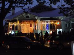 Christmas lights in Franklin Road - this is where we will live and we'll contribute to Christmas spirit