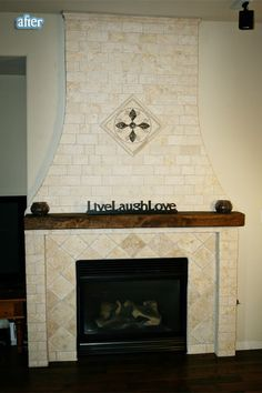 Better After: Is the weather outside frightful? - Ooooh .... travertine tile on point. Nice!