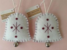 hand made Christmas ornaments