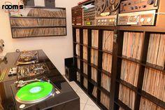 room of the week 59 – DJ Othello Cd Storage, Vinyl Storage, Music Man Cave, Dj Stand, Dj Table, Dj Decks, Record Shelf, Vinyl Room, Audio Room