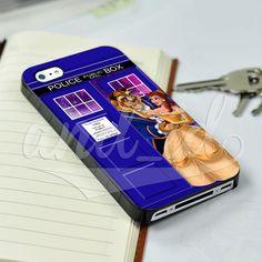 Belle Beauty and the Beast Tardis Disney for iPhone 5/5c/6/6 Plus Hard Case #UnbrandedGeneric