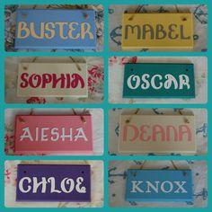 Handmade Personalised Name Door sign. Nursery by FairylandDecor Rabbit Enclosure, Cardboard Letters, Room Signs, Name Signs, Baby Dogs, Animals For Kids, Kids Bedroom, Names, Nursery