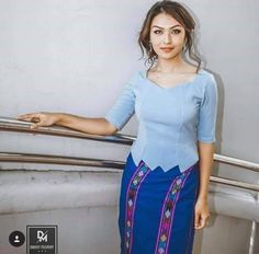 Traditional Dresses Designs, Traditional Fashion, Myanmar Dress Design, Conservative Outfits, Myanmar Traditional Dress, Formal Tops, Sunday Dress, Kebaya, Dress Collection