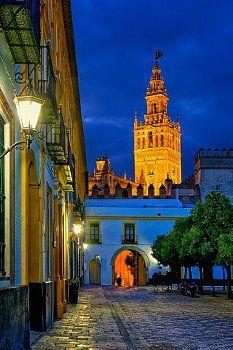 Sevilla at night Spain