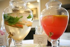 Hostess with the Mostess® - Gossip Girl Inspired Bridal Shower Love these to serve ice tea and crystal light.