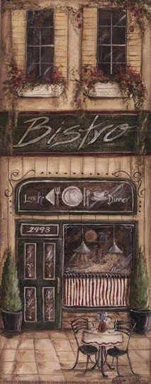 """Bistro"" Fine Art Print by Kate McRostie."