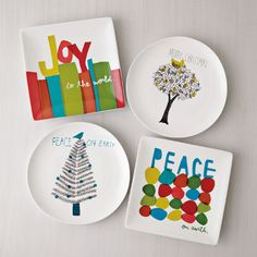 holiday plates from Egg Press