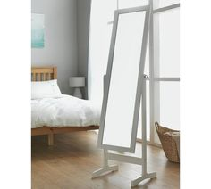 Buy Argos Home Full Length Wooden Cheval Mirror - White  23d3fe994b