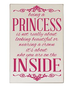 Hang this lovely and inspiring sign in a little one's room to make her feel special every time she looks at it. This vintage inspired piece is high quality to ensure it will be around for years to come.