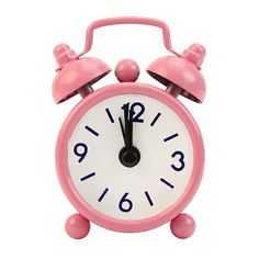 Portable Cute Mini Cartoon Round Desk Alarm Clock