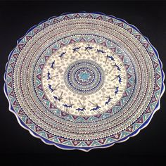 Unique Handmade Hittite Figured Ceramic Plate- FREE EXPRESS SHIPPING!!!