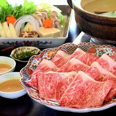 Premium Wagyu Shabu-shabu 特選 by takashi. Pork Belly Recipes, Shabu Shabu, Menu Design, Japanese Food, No Cook Meals, Steak, Food Photography, Yummy Food, Beef