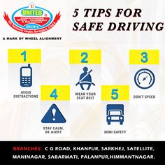 While every situation is different and will require it's own specific course of action, there are 5 very basic driving tips that should always be followed while behind the wheel. #DrivingTips #Tips #Safetyfirst