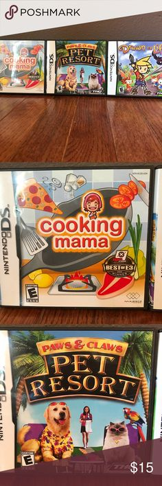 Nintendo DS Bundle Pet Resort Cooking Mama Drawn to Life Nintendo DS Games $15 for all three Nintendo Other