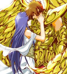 Saint Seiya - The Lost Canvas - Sagittarius Sisyphe & Athena