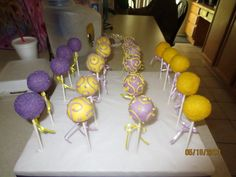 Rapunzel themed cake pops!
