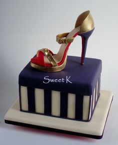 This is my first shoe cake, I've made some shoes but this was the first high hell ;)