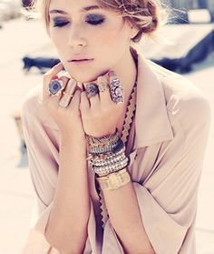 Face, hair and jewellery. Lovely!
