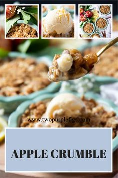 Apple lovers, here's the best Apple Crumble Recipe! Full of all the warm, sweet and tangy flavors, this will be your go-to comfort dessert. #Apple