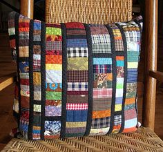 quilted reversible pillow cover - echo:home goods no. 44 -  20x20 - stained glass - ready to ship