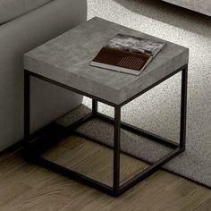 PETRA, mesa de centro y mesa auxiliar: aspecto concreto y acero, sin hormigón - diseñado por IN ès MARTINHO                                                                                                                                                                                 More