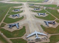 B-52's on the ready at Barksdale AFB