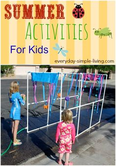 Summer Activities for Kids - ideas for summer camp at home!