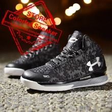 2016 HOT Men's basketball shoes Curry 1 2 men's sneakers Cheap discount sports men shoes size 40-44(usa (Mainland))