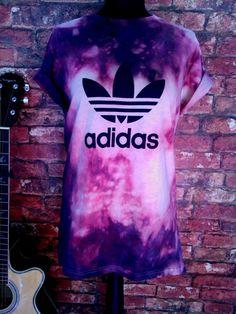 Stag & Bone Adidas Collab Trefoil Tie Dye Tee Purple | Stag & Bone…