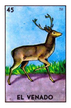 The El Venado card from the Loteria deck produced by Don Clemente / Pasatiempos Gallo.