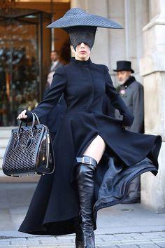 Lady gaga - black head accessorise