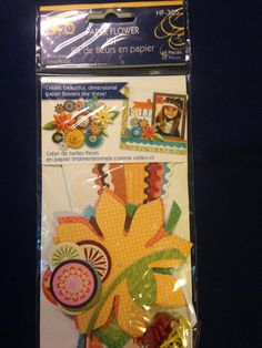 Little Yellow Bicycle   Paper Flower Kit   by CynthiasCraftingNook, $4.00