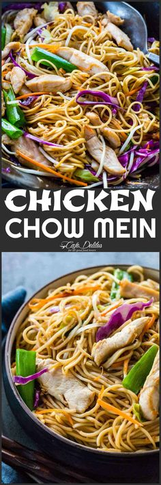 Lower Excess Fat Rooster Recipes That Basically Prime Chicken Chow Mein Recipe Cafe Delities Healthy Chicken Recipes, Asian Recipes, Cooking Recipes, Healthy Food, Asian Foods, Chinese Recipes, Kitchen Recipes, Chinese Food, Cooking Tips