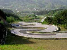 Handle the turns.  This would be some cool bike riding!!