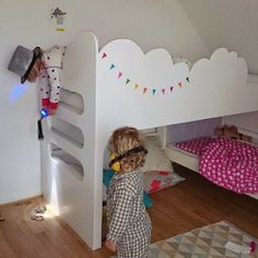 mommo design: NUVOLE.... Bunk beds for a shared room. Stapelbed voor gedeelde…