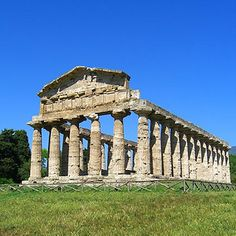 Temple of Athena, Paestum, an ancient Greek city located in Italy and  founded in the 7th century B.C.